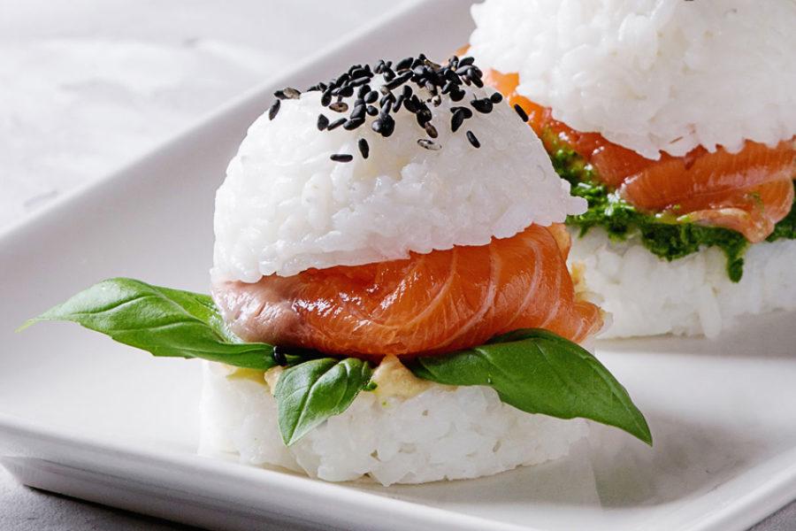 Mini Sushis de riz au saumon fumé bio Barthouil