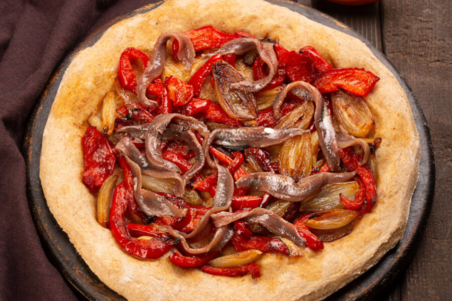 Tarte aux anchois de Collioure